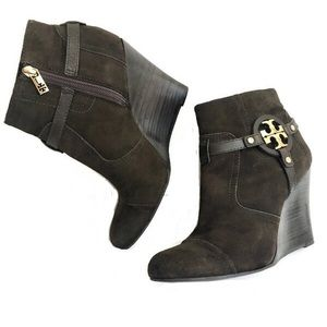 Tory Burch Aaden Suede Wedge Ankle Boot